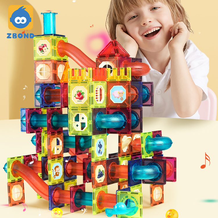 STEM Gravity Maze Logic Game Ball Magnetic Set Children Marble Run Tiles with Strong Magnet