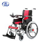 Electric Folding power steel wheelchair with hand wheels