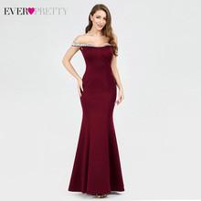 Темно-синие длинные вечерние платья 2020 Ever Pretty EP07941NB Русалка с блестками, вырезом лодочкой и открытыми плечами, элегантные вечерние платья(Китай)