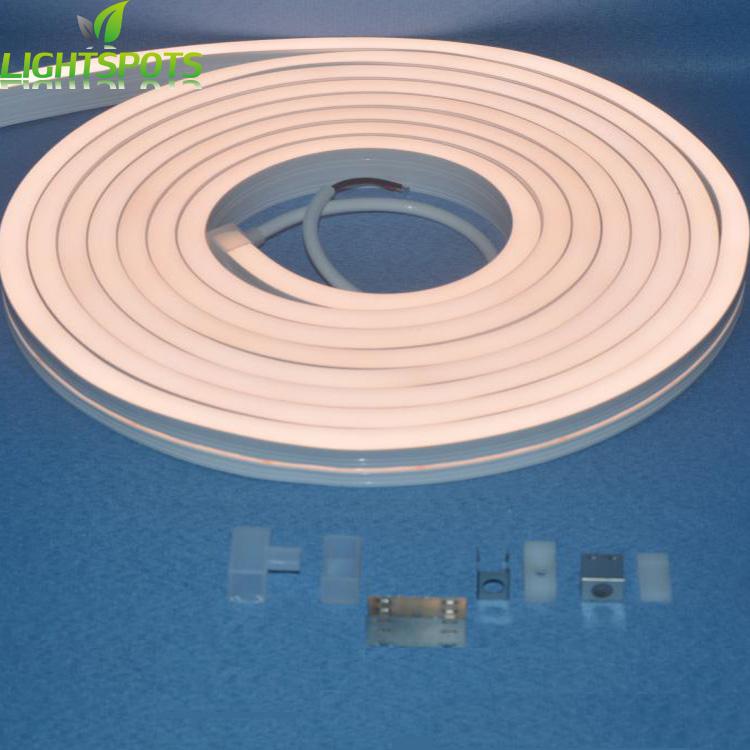 Shenzhen Industrial Anti-UV Silicone Extrusion Flex Smooth Lighting 12V 24V Strip Neon Led