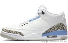 Баскетбольная обувь Nike Air Jordan Retro 3 Valor Blue Men s Jordan, Мужская баскетбольная обувь с высоким берцем, Баскетбольная обувь Jordan, тренировочная обувь ...()