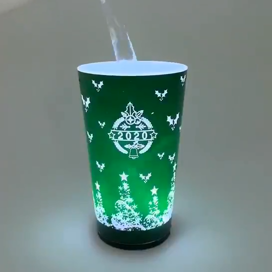 Amazon Hot Led Induction Colorful Luminous Coffee Cup Bpa Cute Creative Led Plastic Water Bottles with Custom Logo Plastic