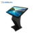 Shopping mall 32 inch s shape touch screen table  interactive information kiosk