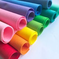 Colorful 100% Polyester Fabric Felt Sheets / Rolls with cheap Price