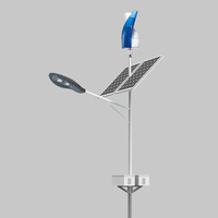 Vertical wind turbines hybrid 12V solar power street lighting