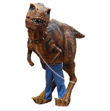 Jurassique parc d'attractions adulte raptor marche costume de dinosaure trex
