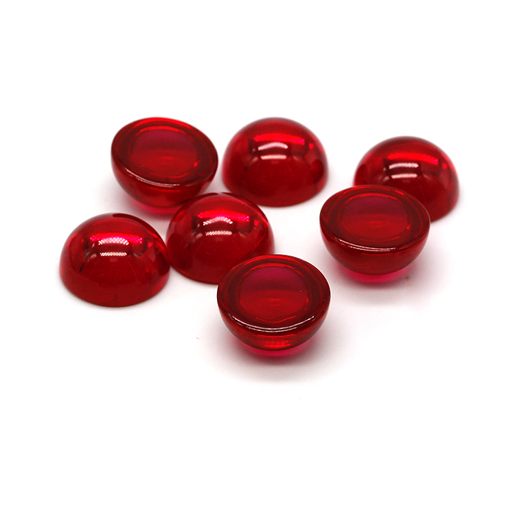 In Abundant Supply Good Prices Synthetic Cabochons Ruby Stone