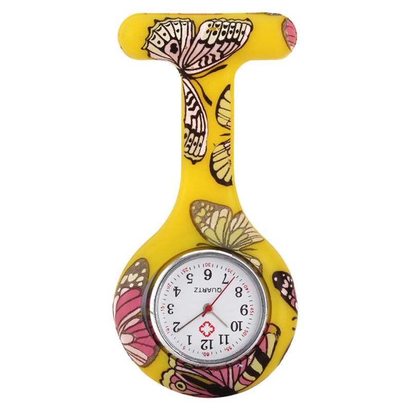 ยางประเภทวัสดุและการเคลื่อนไหวควอตซ์ยางซิลิโคนพยาบาลทางการแพทย์เข็มกลัด 2019 นาฬิกาซิลิโคนควอตซ์