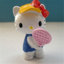 Benvenuto Personalizzato <span class=keywords><strong>Giappone</strong></span> <span class=keywords><strong>Del</strong></span> <span class=keywords><strong>Fumetto</strong></span> 3D pvc Ciao Kitty action figure giocattoli
