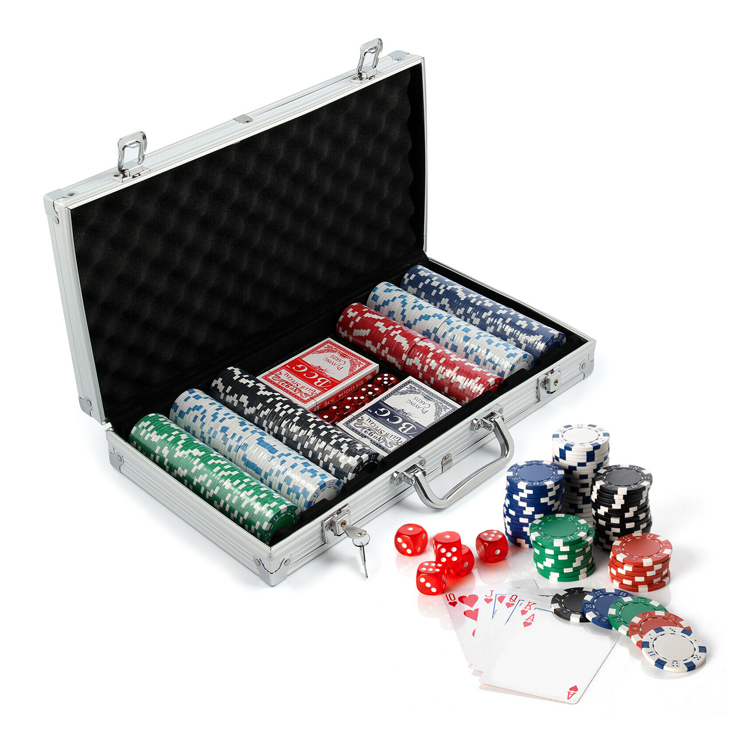 Casino di alluminio con cornice poker chip set 300
