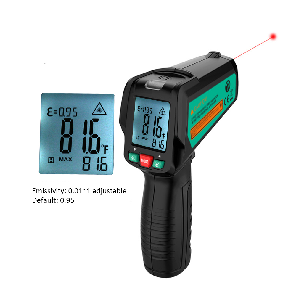 FUYI FY580c 3Non-Contact LCD IR Laser Infrared Digital Temperature Gun LCD Screen Humidity Pyrometer infrared thermometer - KingCare | KingCare.net