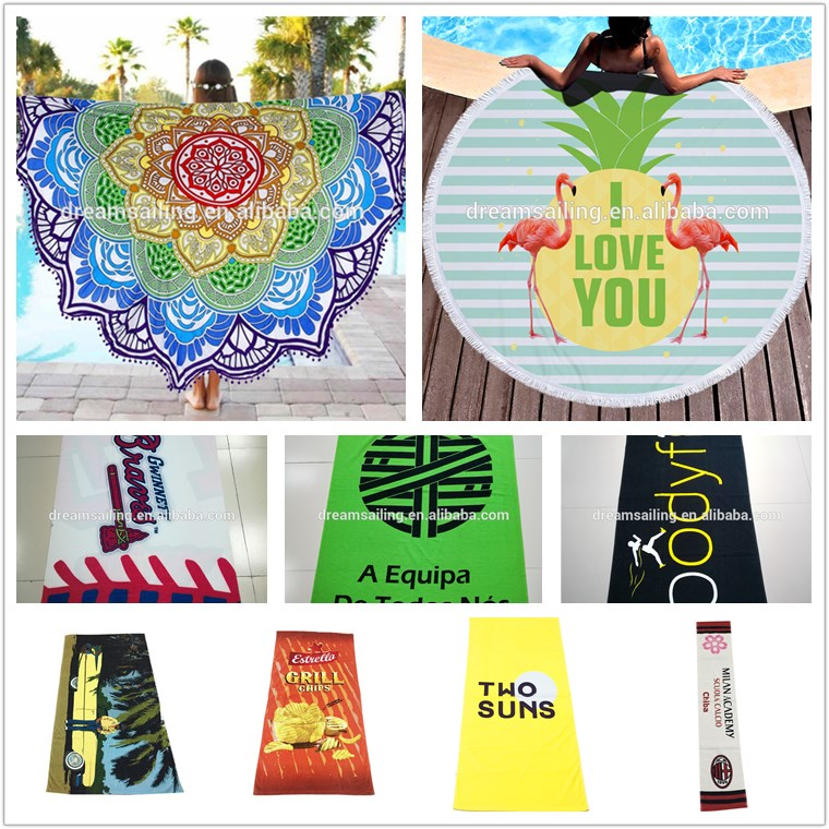 Colorful and comfortable cotton digital printed beach towel, chair towel