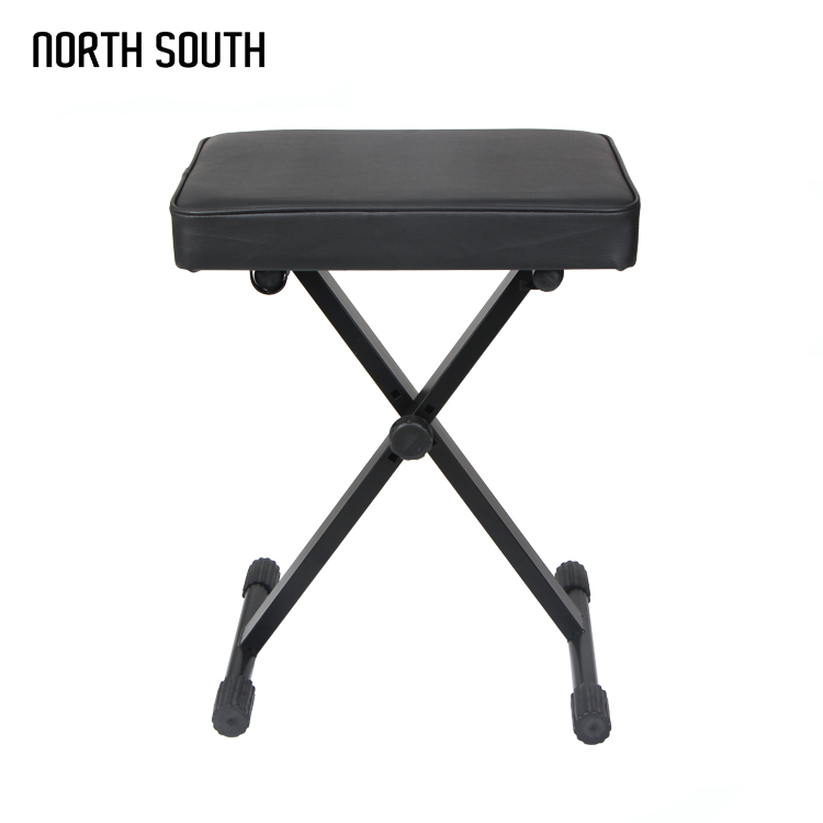 Square Shape Leather Electric Organ Stool Foldable Good Quality