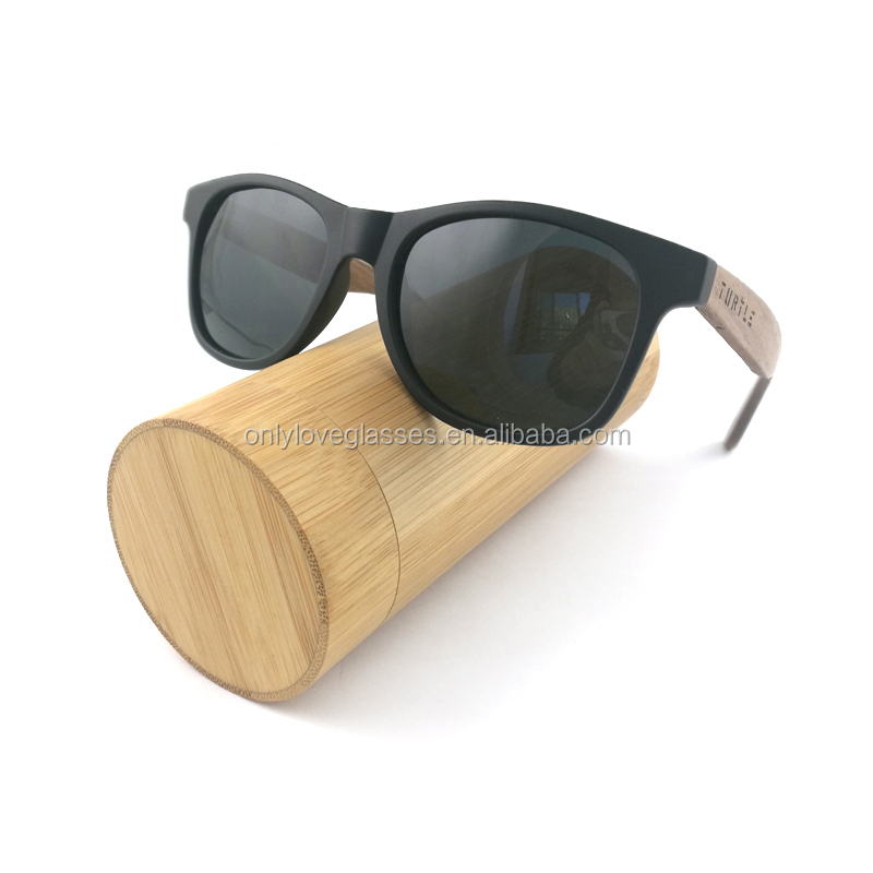 Handmade custom logo polarized wholesale wood sunglasses