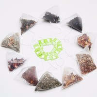 OEM private label Biodegradable Pyramid Triangle tea bags With Strings,Chrysanthemum Puer Tea