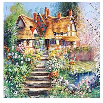 5d Diamond Painting Farm Rural Landscape Diamond Wall Art Home Decor canvas paintings canvas wall painting arts crafts