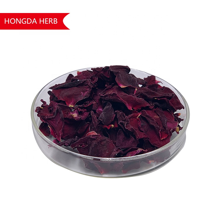 HONGDA Roasted Frozen Dried Dry Red Rose Petals for Tea Drinking - 4uTea | 4uTea.com