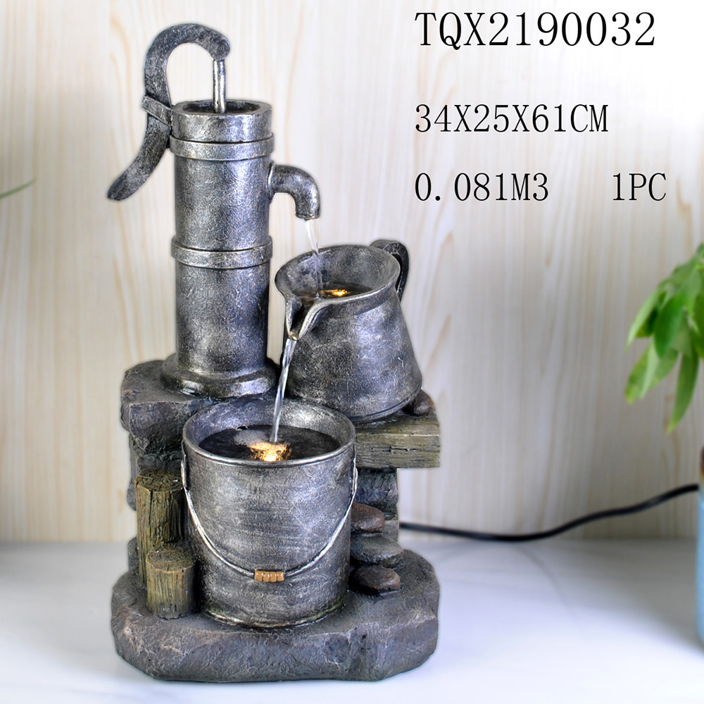 Europe Style Classical Design Stone Like Polyresin Garden Water Fountains Outdoor decoration