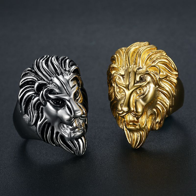 product-BEYALY-Cheap neat for unisex cool stainless steel lion gold ring-img-1