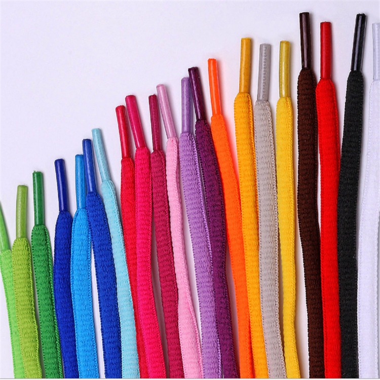 Factory Direct Selling Custom Fashion Polyester solid color shoe lace