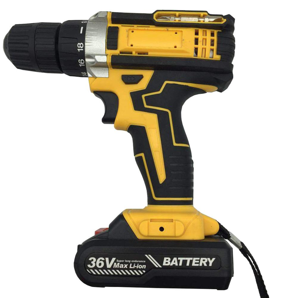 36v Li-ion Charging Cordless Drill Power Screw Drivers Electric Hand Drill Multi Function Electric Screwdriver Impact Drill