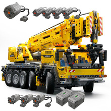 2590pcsมอเตอร์ROUGH Terrain Crane slegoingly Technic gruas