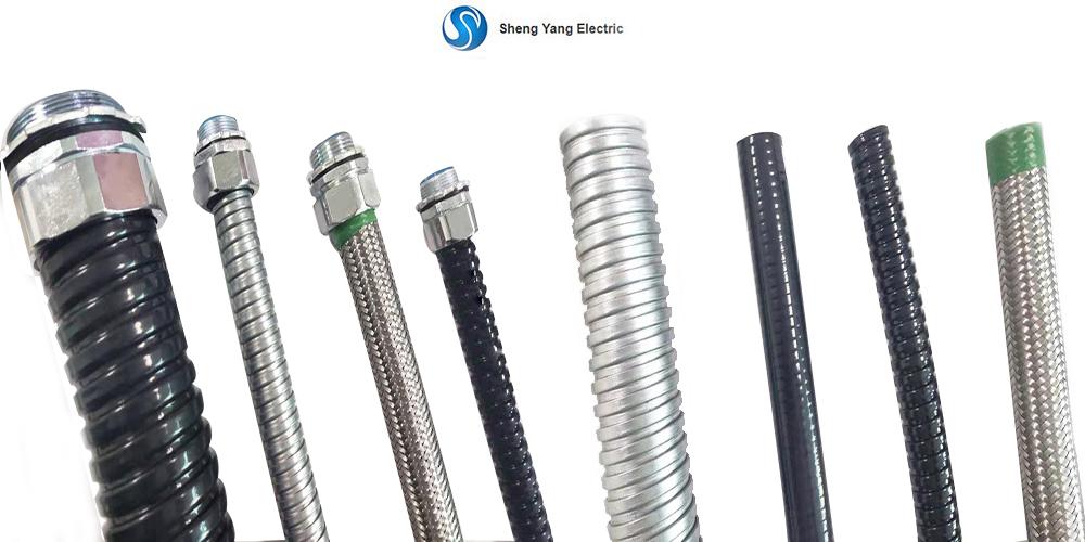 Power Generator Use Flat Finish Fireproof Waterproof PVC Coated GI Metal Flexible Conduit in Mechanical Industry