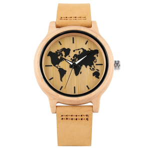 Free Shipping Minimalist Design Dial Maple Wooden Wrist Watch Ladies