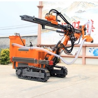 High quality light weight crawler pneumatic open pit mining drilling rig
