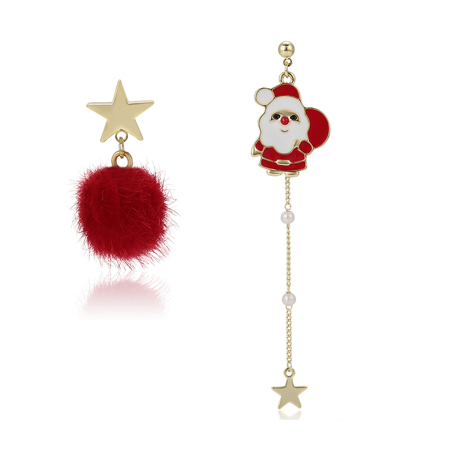 371 xuping free shipping14k gold plated Christmas gifts pendant gold Santa snowball earrings earring jewellery
