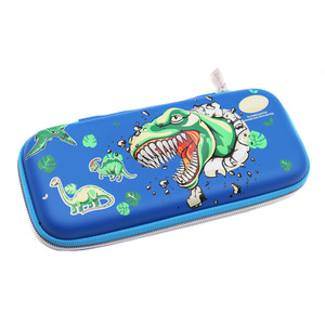 Wholesale Custom Logo Cheap 3D Dinosaur Pattern Cute Kids EVA Ball Pen Bag Pencil Case Pouch