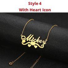Женское Ожерелье из нержавеющей стали Vnox, колье-чокер с индивидуальным именем, уникальный подарок на заказ(Китай)