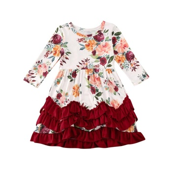 Persnickety Vestido Para Bebe Wholesale Teen Girl Flutter Sleeves Dress Pattern Baby Girls Flower Dresses Baby Girl Frock
