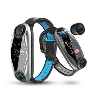 New T90 Fitness Bracelet Wireless Bluetooth Earphone 2 In 1 IP67 Waterproof Sport Smart Watch with Tws Earbuds