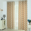 European Simple Modern Geometric Diamond Curtain, High Precision Blackout Jacquard Curtain$