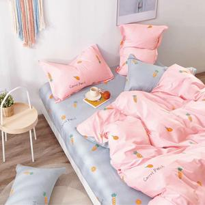Wholesale China 100% Cotton Bed Sheet Sets Dots Printed Queen Bedding Set Cute Duvet Cover For Home