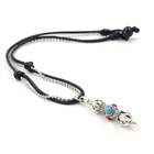 Gift Customized New Arrival Temple Gift Handmade Turquoise Alloy Pendant Short Necklace For Men