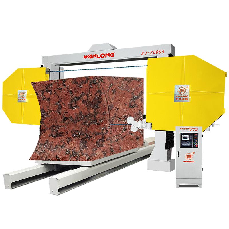 SJ-2000A Numerical Control Stone Wire Saw Machine For Granite, Granite Diamond Wire Saw Cutting Machine