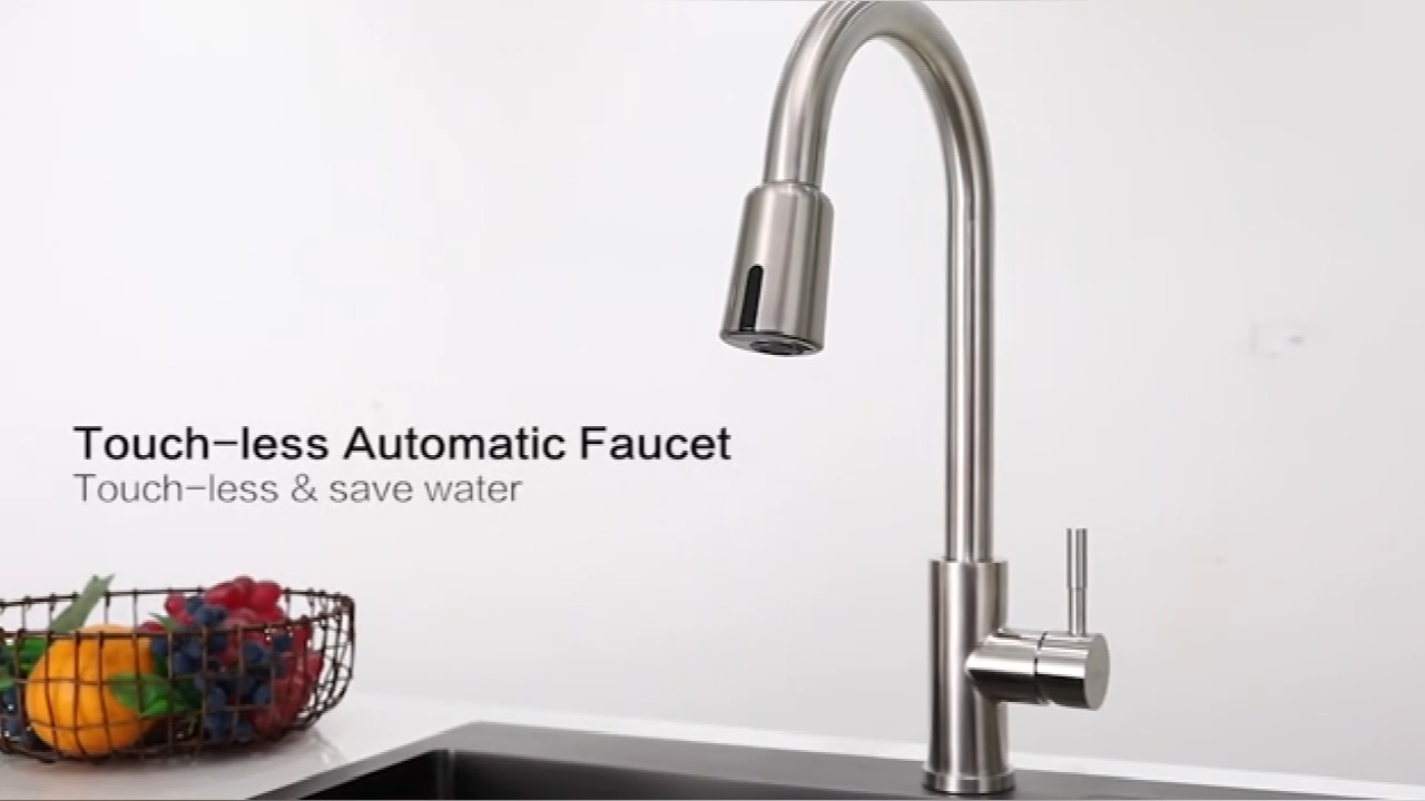 Anti microbial Stainleses steel water saving spray smart automatic sensor sprayer touchless faucet adapter for faucets