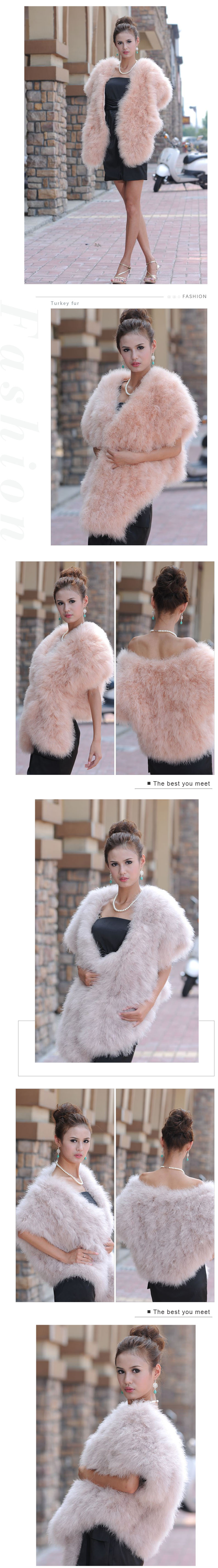 cheap price warm fur cape 2019 winter real turkey fur shawls for women