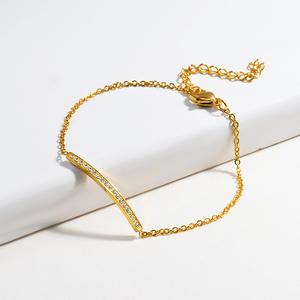 BAOYAN Titanium Stainless Steel Diamond Crystal Charm Bracelet For Women