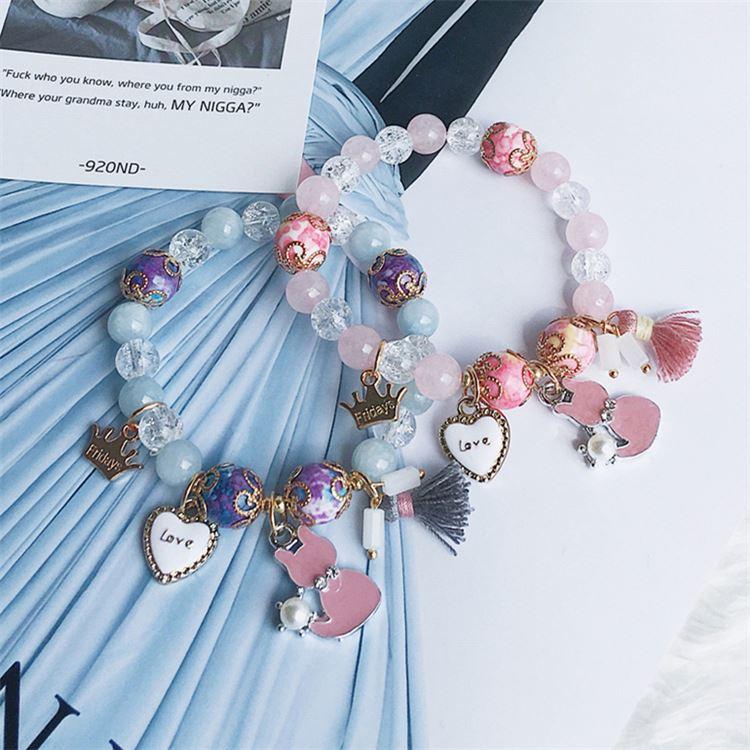 Personalizado pulseras de cuentas relación pulseras brazaletes de pulsera de perlas