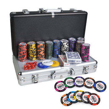 Factory supply 100 200 300 400 500 600 1000 pcs Poker chip set in aluminum suitcase 40 mm wsop poker chips