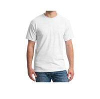 Running Breathable 100% cotton Custom Logo T Shirts For Men in White