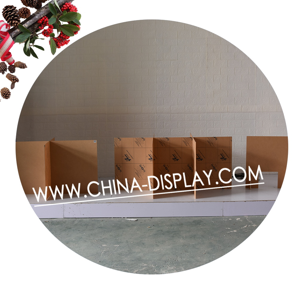 Transparent Acrylic Folding Room Divider 3 Panels Isolation Pp Board