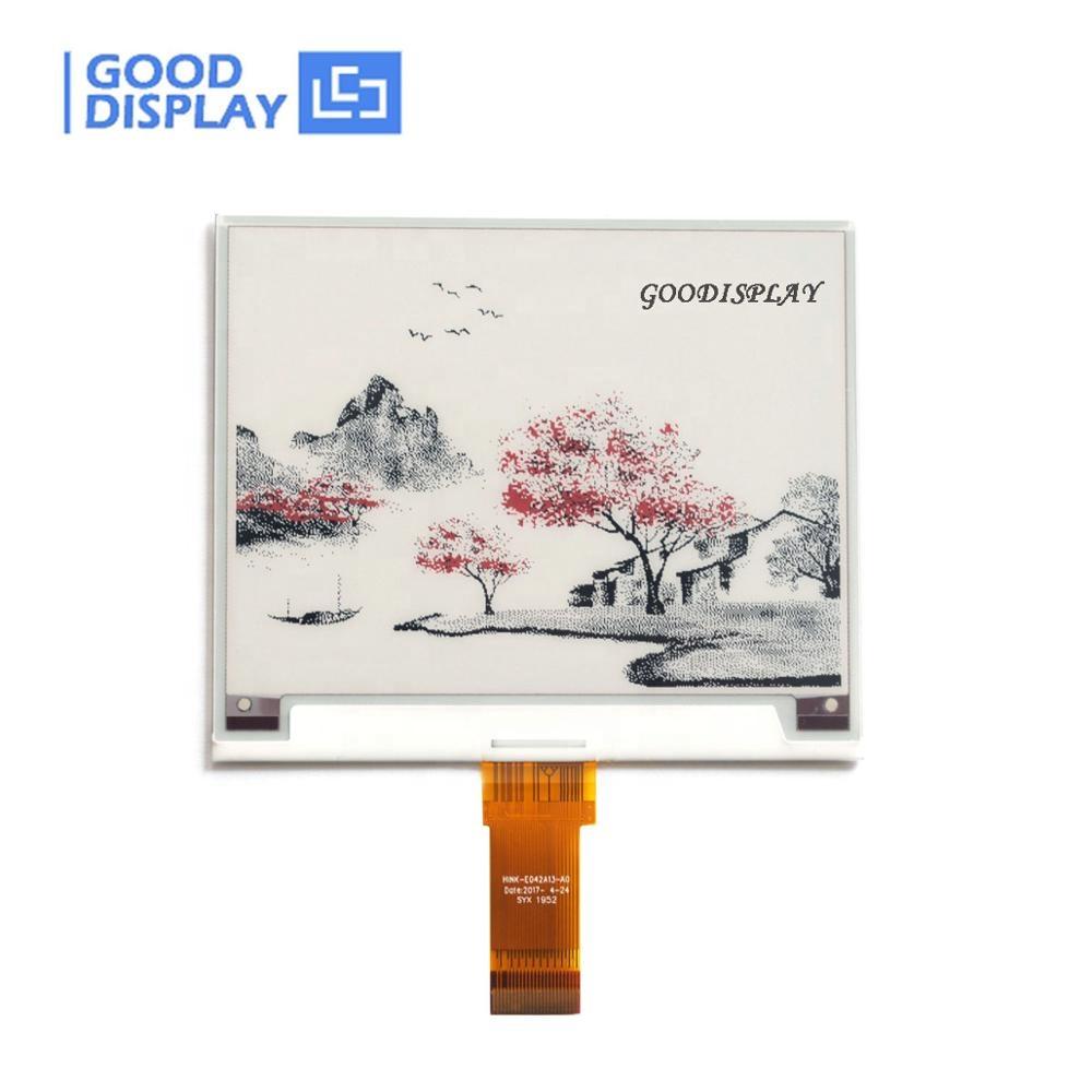 Goodisplay 4.2 inç süpermarket etiketi e-kağıt 400x300 ekran renkli e-mürekkep