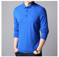 Chinese professional supplier customer solid color golf shirt for men rugby polo long sleeve 100% cotton camisas polo