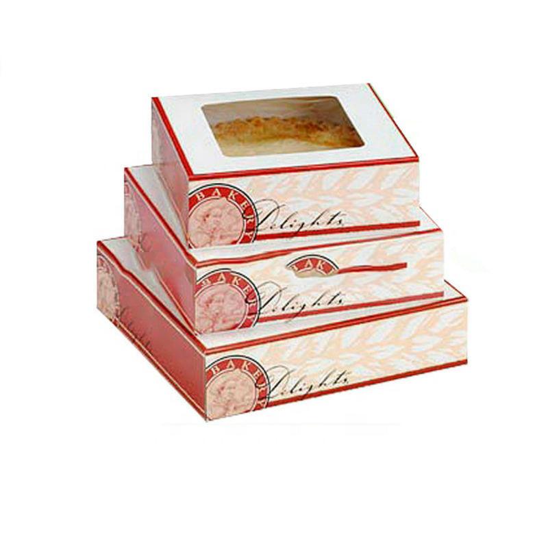 अनुकूलित केक बॉक्स पैकेजिंग के लिए निर्माता थोक बेकरी बक्से