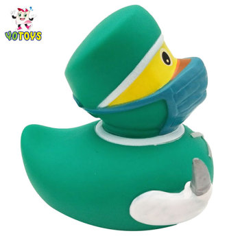 Top quality floating ducks vinyl doctor duck baby bath toys aunty bath duck for babies