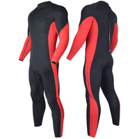 Man's Neoprene Wet Suit 5mm Back Zip Fullsuit Black Customized Surfing